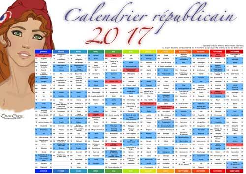 Calendrier républicain 2017 bd