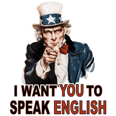 Uncle Sam I Want You To Speak English